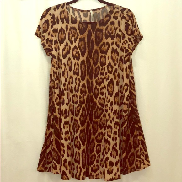 Dresses & Skirts - Leopard print dress size small with pockets